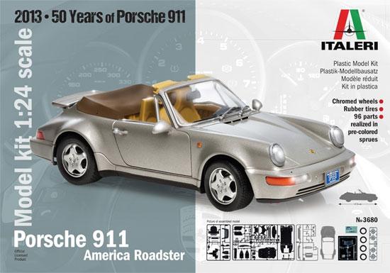 ポルシェ 911 アメリカン ロードスタープラモデル(イタレリ1/24 カーモデルNo.3680)商品画像