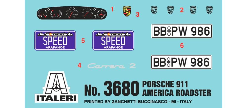 ポルシェ 911 アメリカン ロードスタープラモデル(イタレリ1/24 カーモデルNo.3680)商品画像_1