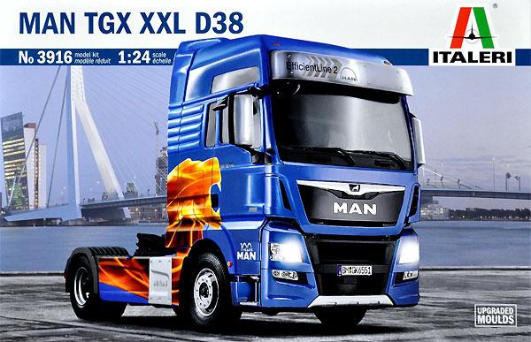 MAN TGX XXL D38 トラクターヘッドプラモデル(イタレリ1/24 トラックシリーズNo.3916)商品画像
