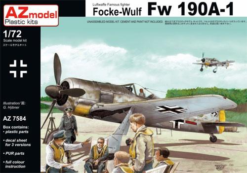 フォッケウルフ Fw190A-1プラモデル(AZ model1/72 エアクラフト プラモデルNo.AZ7584)商品画像