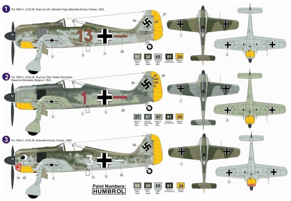 フォッケウルフ Fw190A-1プラモデル(AZ model1/72 エアクラフト プラモデルNo.AZ7584)商品画像_1