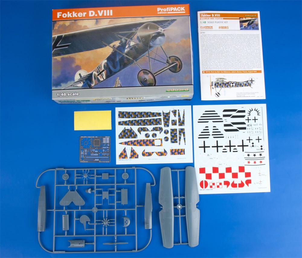 フォッカー D.8プラモデル(エデュアルド1/48 プロフィパックNo.8085)商品画像_1