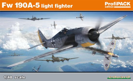 フォッケウルフ Fw190A-5 軽武装型プラモデル(エデュアルド1/48 プロフィパックNo.82143)商品画像