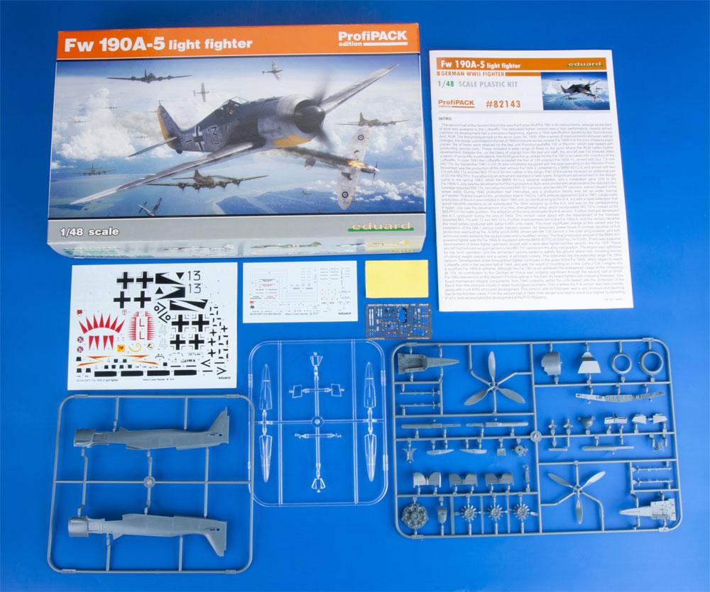 フォッケウルフ Fw190A-5 軽武装型プラモデル(エデュアルド1/48 プロフィパックNo.82143)商品画像_1
