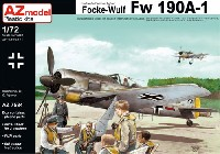 AZ model1/72 エアクラフト プラモデルフォッケウルフ Fw190A-1