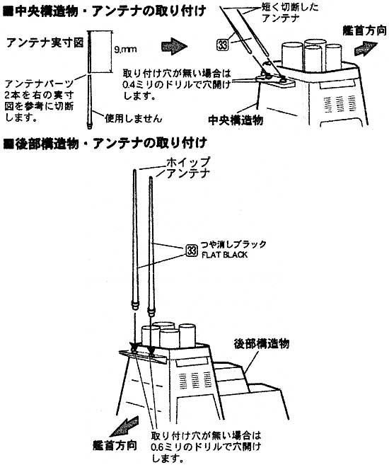 海上自衛隊 ホイップアンテナセットメタル(ファインモールド1/700 ファインデティール アクセサリーシリーズ (艦船用)No.AM-040)商品画像_2