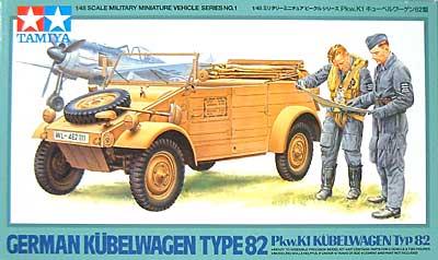 Pkw.K1 キューベルワーゲン 82型プラモデル(タミヤ1/48 ミリタリーミニチュアシリーズNo.001)商品画像