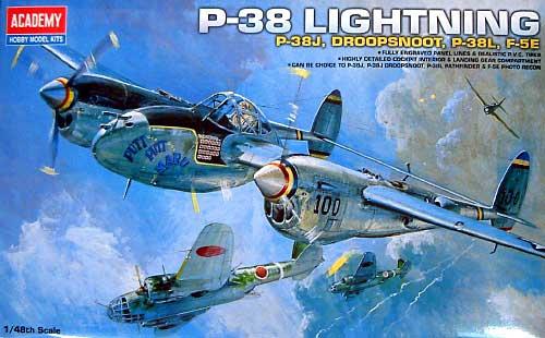 P-38 ライトニング コンビネーションバージョンプラモデル(アカデミー1/48 Scale AircraftsNo.12282)商品画像
