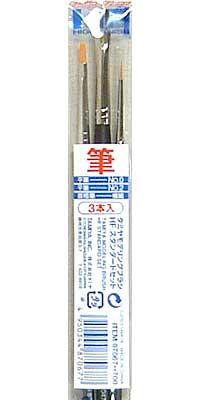 タミヤ モデリングブラシ HF スタンダードセット筆(タミヤタミヤ モデリングブラシ HFNo.87067)商品画像