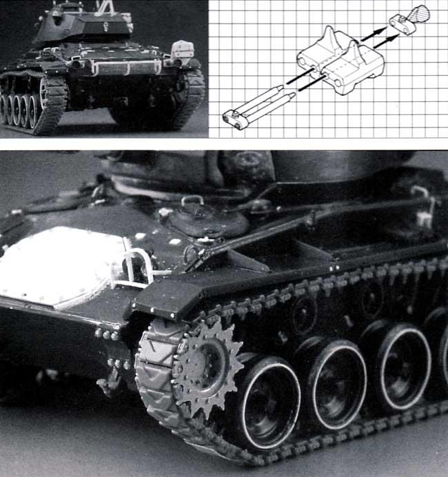 M24戦車用履帯 T85E1型 (可動式) メタル製スプロケット付プラモデル(モデルカステン連結可動履帯 SKシリーズNo.SK-063)商品画像_1