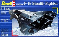 レベル1/144 飛行機F-19 ステルスファイター