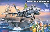 フジミ1/72 飛行機 (定番外)F/A-18C ホーネット & 米海軍デッキクルーセット