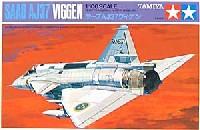 タミヤ1/100 ミニジェットシリーズサーブ AJ37 ヴィゲン