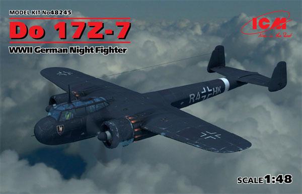 ドルニエ Do17Z-7 夜間戦闘機プラモデル(ICM1/48 エアクラフト プラモデルNo.48245)商品画像