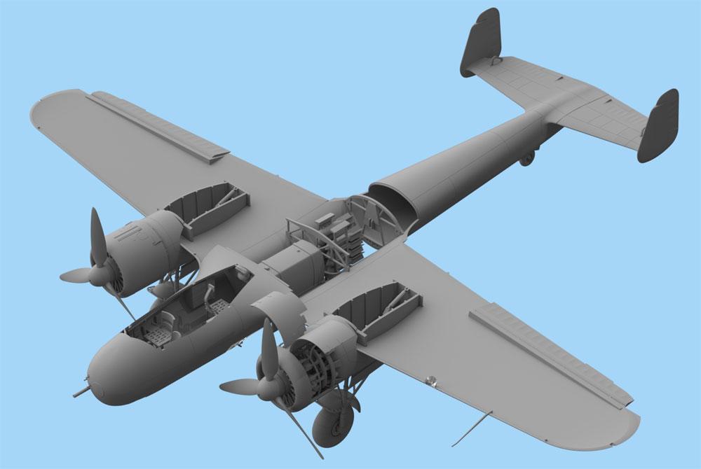 ドルニエ Do17Z-7 夜間戦闘機プラモデル(ICM1/48 エアクラフト プラモデルNo.48245)商品画像_4