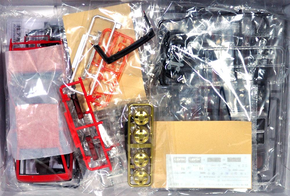 トヨタ AE86 レビン '84 (レッド/ブラック)プラモデル(アオシマ1/24 プリペイントモデル シリーズNo.4905083054963)商品画像_1
