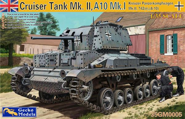 ドイツ軍 鹵獲戦車 Mk.2 742e (巡航戦車 A10 Mk.1)プラモデル(ゲッコーモデル1/35 ミリタリーNo.35GM0005)商品画像