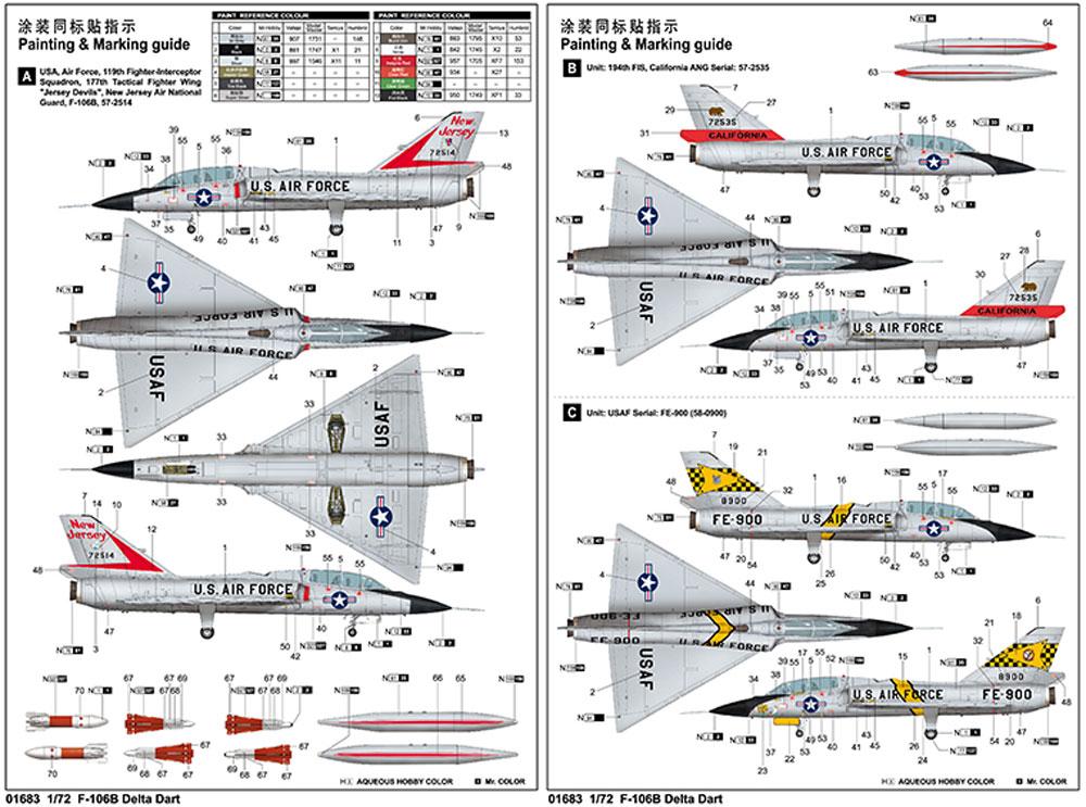 F-106B デルタダートプラモデル(トランペッター1/72 エアクラフト プラモデルNo.01683)商品画像_1