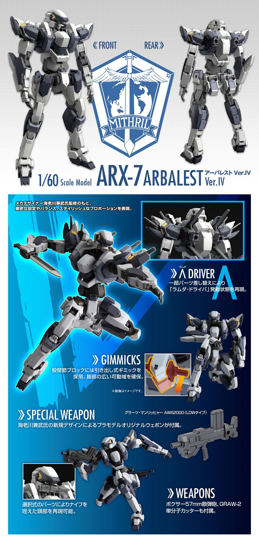 ARX-7 アーバレスト Ver.IVプラモデル(バンダイフルメタルパニック!No.0222260)商品画像_4