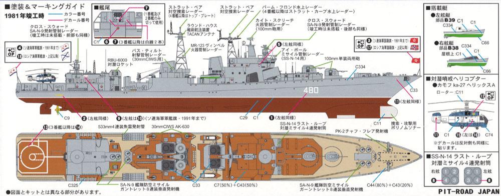ソビエト海軍 ミサイル駆逐艦 ウダロイプラモデル(ピットロード1/700 スカイウェーブ M シリーズNo.M-045)商品画像_1