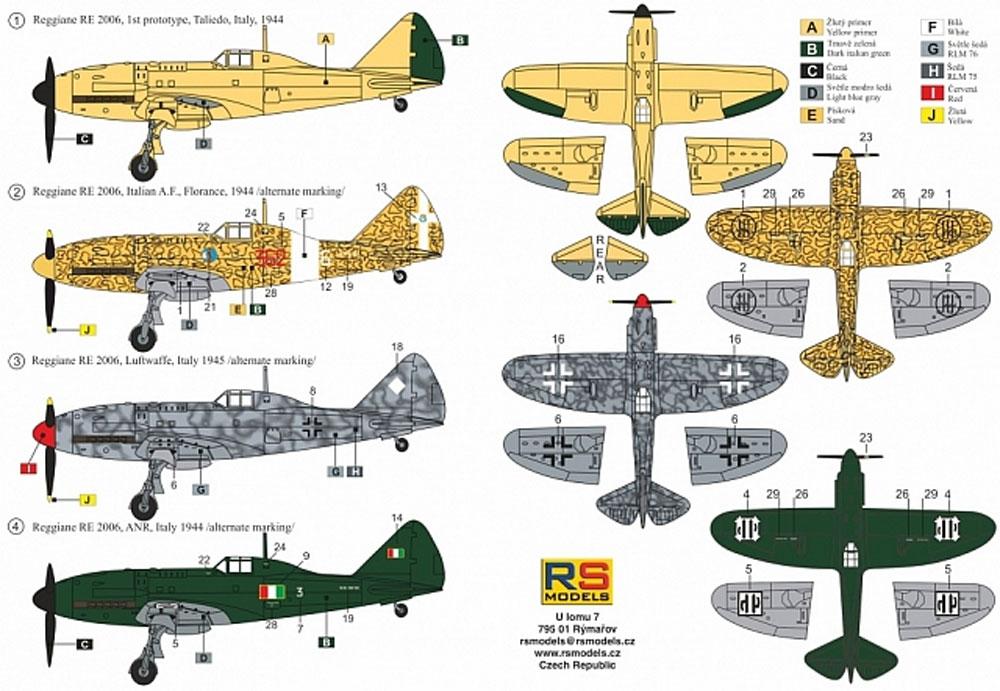 レジアーネ 2006 イタリア空軍プラモデル(RSモデル1/72 エアクラフト プラモデルNo.92214)商品画像_1