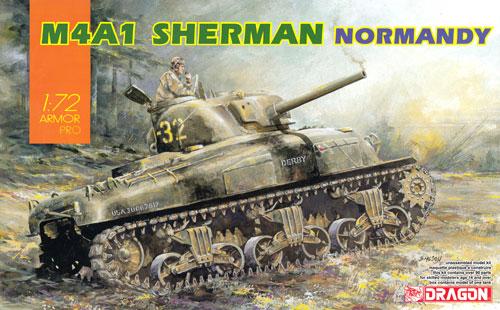 M4A1 シャーマン ノルマンディプラモデル(ドラゴン1/72 ARMOR PRO (アーマープロ)No.7568)商品画像