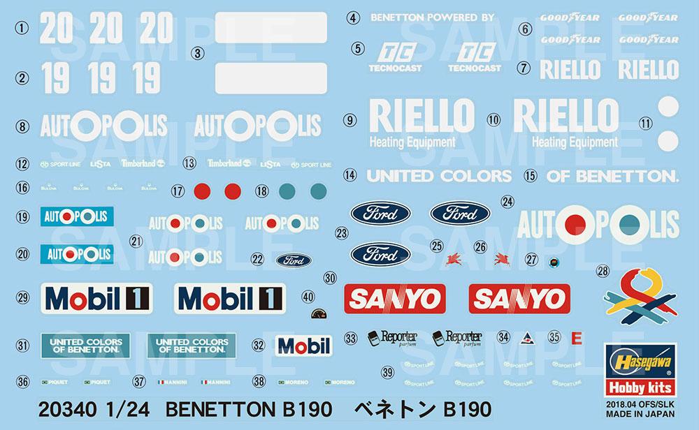 ベネトン B190プラモデル(ハセガワ1/24 自動車 限定生産No.20340)商品画像_2