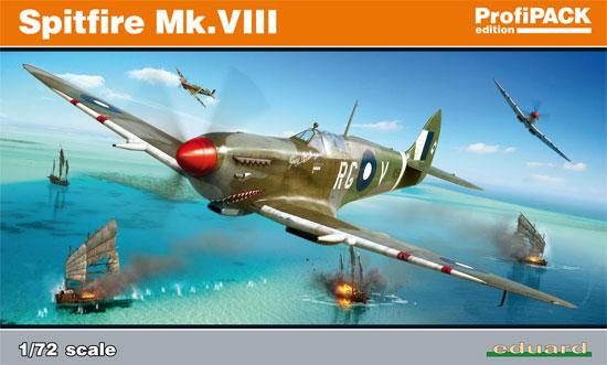 スピットファイア Mk.8プラモデル(エデュアルド1/72 プロフィパックNo.70128)商品画像