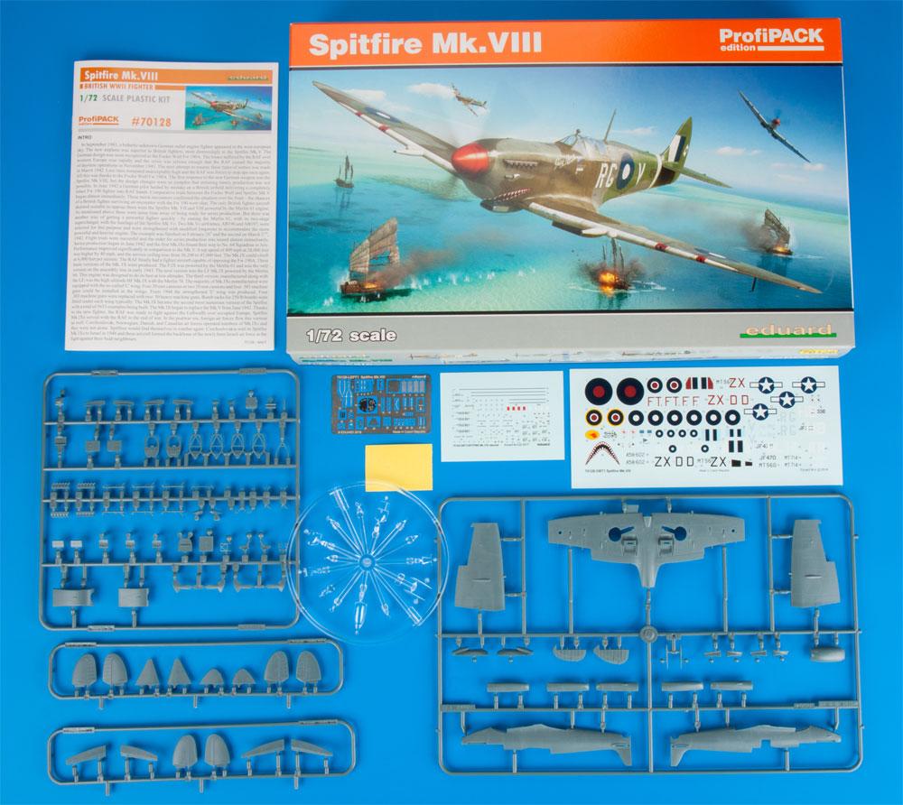 スピットファイア Mk.8プラモデル(エデュアルド1/72 プロフィパックNo.70128)商品画像_1