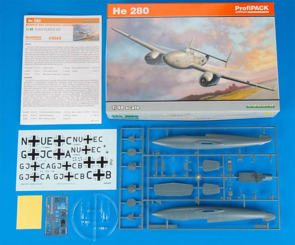ハインケル He280プラモデル(エデュアルド1/48 プロフィパックNo.8068)商品画像_1