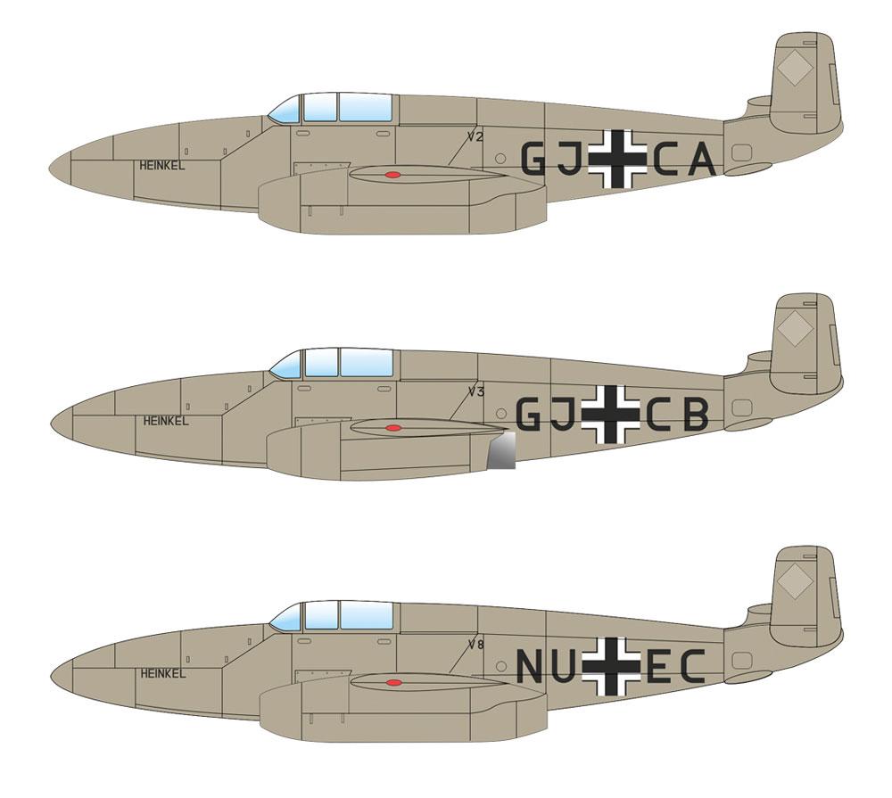 ハインケル He280プラモデル(エデュアルド1/48 プロフィパックNo.8068)商品画像_3