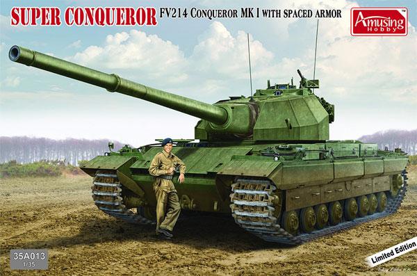 イギリス 重戦車 FV214 コンカラー Mk.1 w/スペースドアーマープラモデル(アミュージングホビー1/35 ミリタリーNo.35A013)商品画像