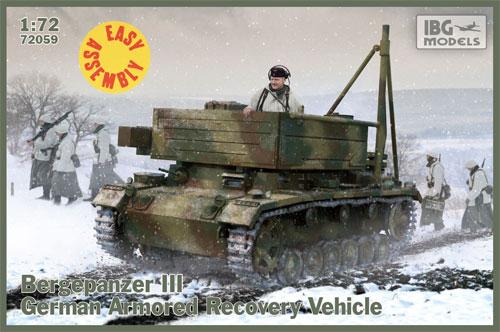 ドイツ 3号 ベルゲパンツァー 戦車回収車プラモデル(IBG1/72 AFVモデルNo.72059)商品画像