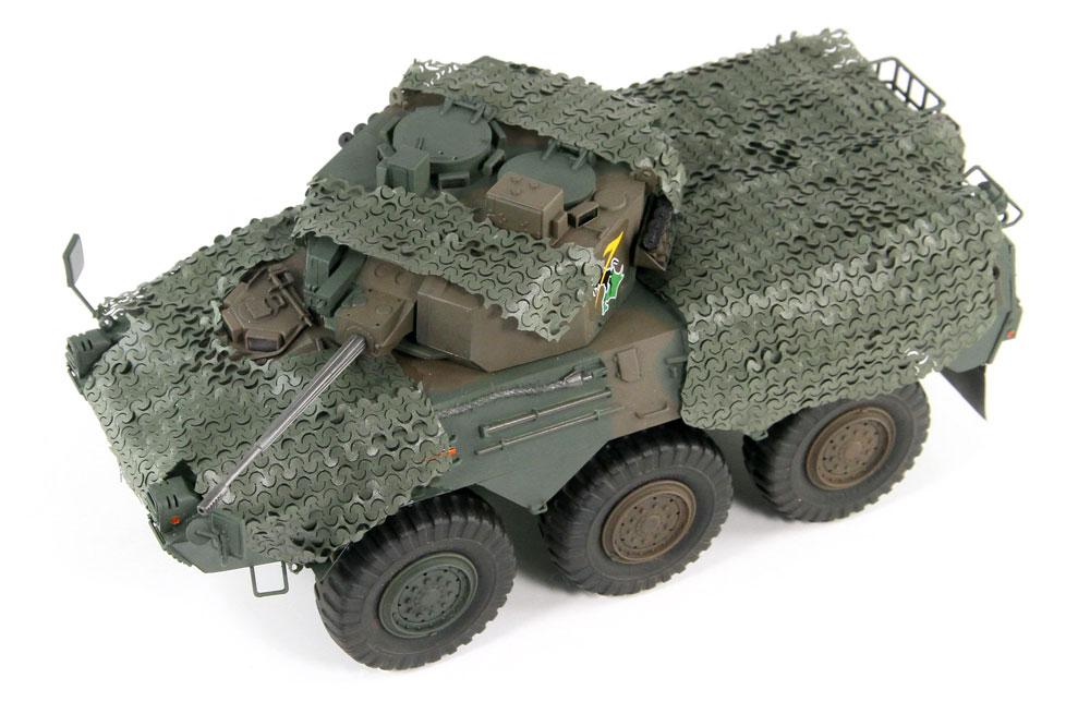 陸上自衛隊 87式偵察警戒車 カモフラージュネット付きプラモデル(ピットロード1/35 グランドアーマーシリーズNo.G048K)商品画像_2