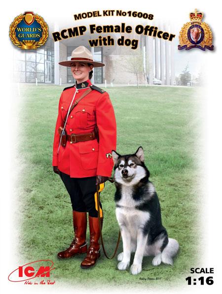 王立カナダ 女性騎馬警察 w/警察犬プラモデル(ICM1/16 ワールドガードNo.16008)商品画像