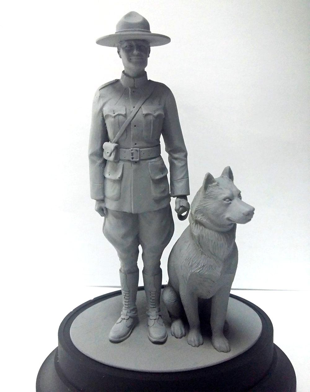王立カナダ 女性騎馬警察 w/警察犬プラモデル(ICM1/16 ワールドガードNo.16008)商品画像_2