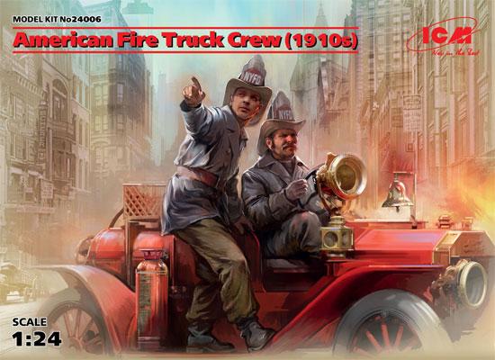 アメリカ 消防車クルー (1910s)プラモデル(ICM1/24 フィギュアNo.24006)商品画像