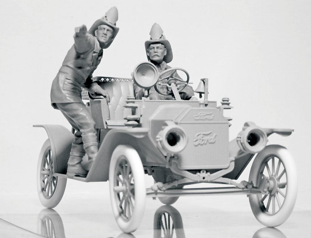 アメリカ 消防車クルー (1910s)プラモデル(ICM1/24 フィギュアNo.24006)商品画像_2