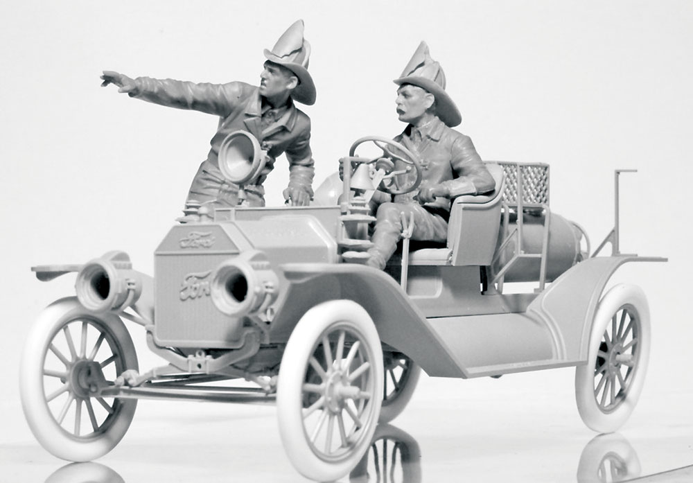 アメリカ 消防車クルー (1910s)プラモデル(ICM1/24 フィギュアNo.24006)商品画像_3