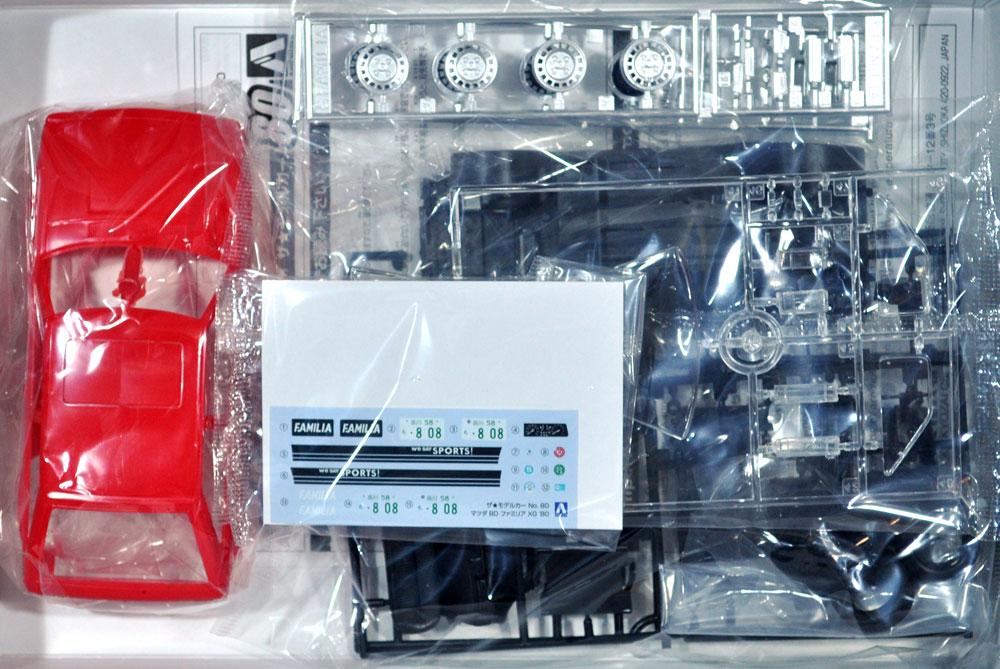 マツダ BD ファミリア XG '80プラモデル(アオシマ1/24 ザ・モデルカーNo.旧080)商品画像_1