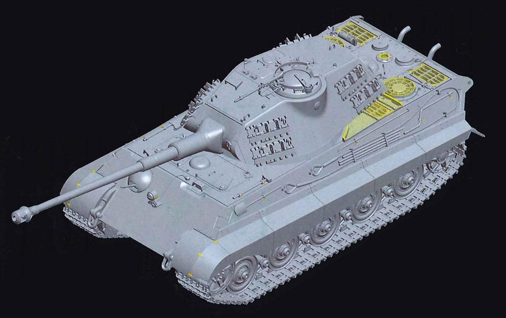 ドイツ重戦車 キングタイガー ポルシェ砲塔プラモデル(童友社1/35 プラモデルNo.035-KT001)商品画像_4