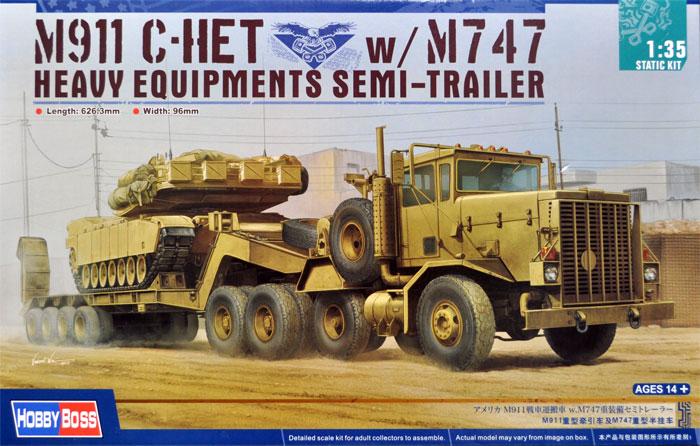 アメリカ M911 戦車運搬車 w/M747 重装備セミトレーラープラモデル(ホビーボス1/35 ファイティングビークル シリーズNo.85519)商品画像