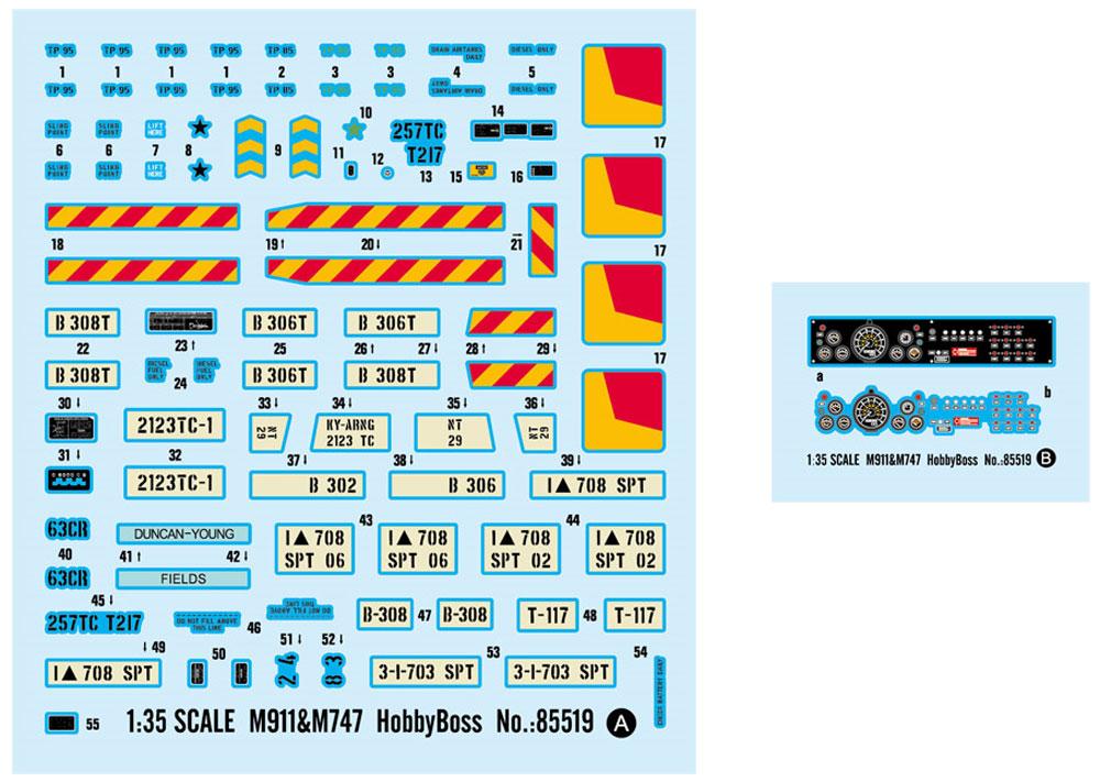 アメリカ M911 戦車運搬車 w/M747 重装備セミトレーラープラモデル(ホビーボス1/35 ファイティングビークル シリーズNo.85519)商品画像_2