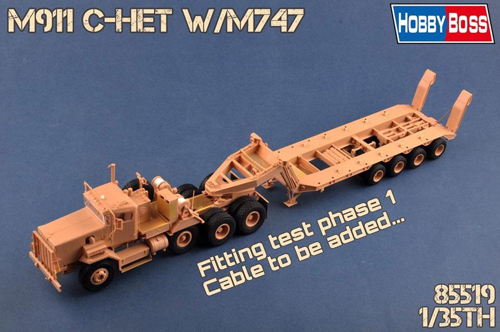 アメリカ M911 戦車運搬車 w/M747 重装備セミトレーラープラモデル(ホビーボス1/35 ファイティングビークル シリーズNo.85519)商品画像_3