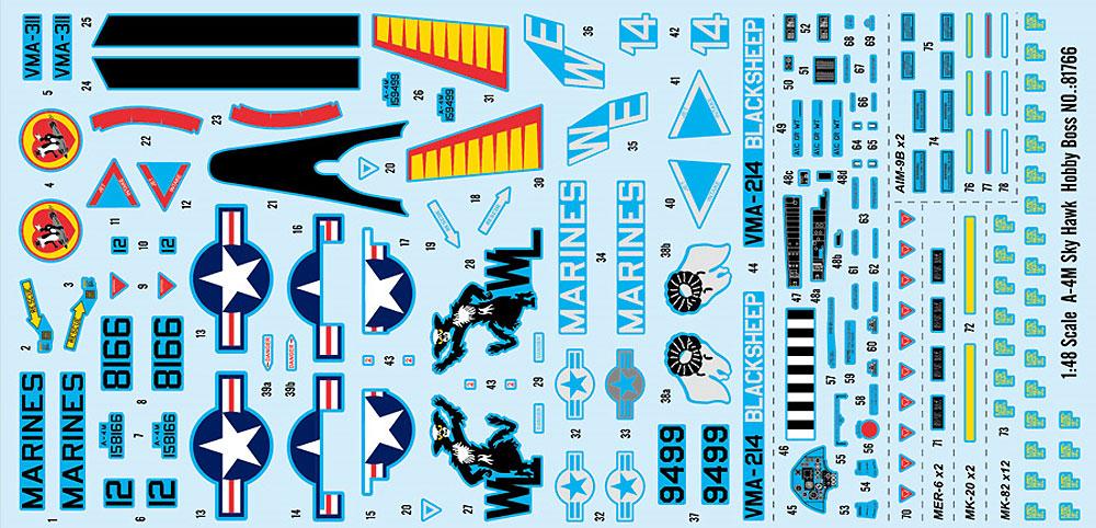 A-4M スカイホークプラモデル(ホビーボス1/48 エアクラフト プラモデルNo.81766)商品画像_2