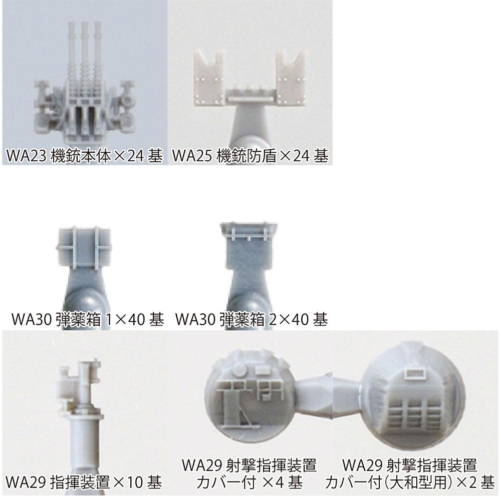 帝国海軍 25mm 三連装機銃セットプラモデル(ファインモールド1/700 ナノ・ドレッド シリーズNo.50001)商品画像_2