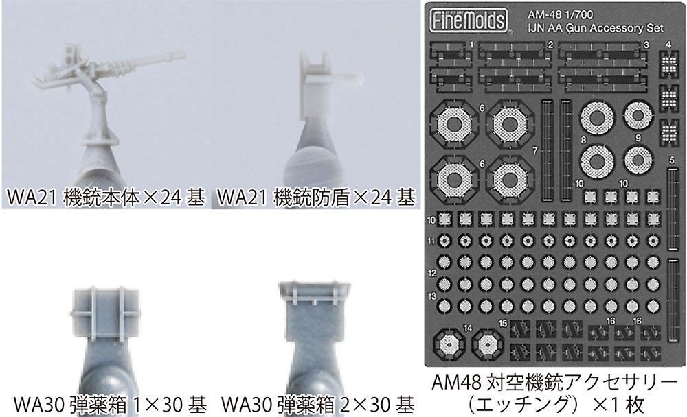 帝国海軍 25mm 単装機銃セットプラモデル(ファインモールド1/700 ナノ・ドレッド シリーズNo.50002)商品画像_2