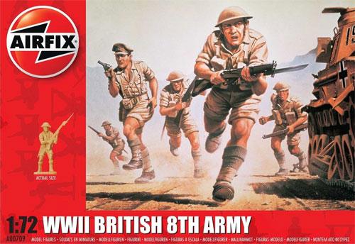 WW2 イギリス 第8軍 歩兵プラモデル(エアフィックス1/72 AFVNo.A00709)商品画像