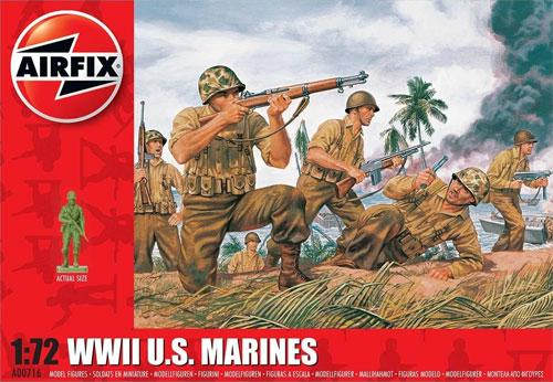 WW2 アメリカ海兵隊 兵士プラモデル(エアフィックス1/72 AFVNo.A00716)商品画像