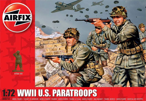 WW2 アメリカ 空挺部隊 兵士プラモデル(エアフィックス1/72 AFVNo.A00751)商品画像